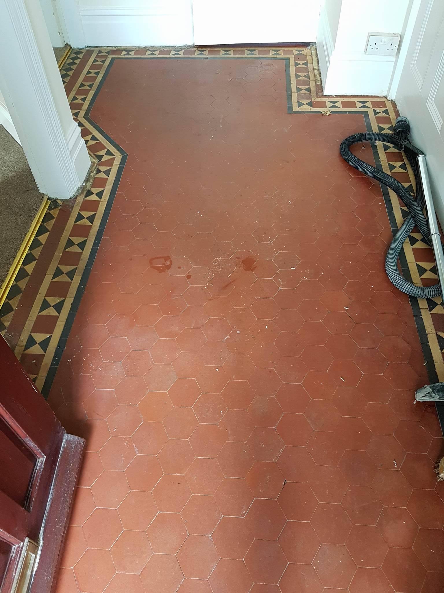 Victorian floor before renovation