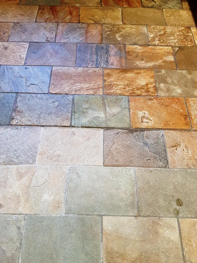 Welsh Slate Kitchen Floor Tiles Part Sealed
