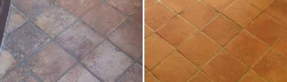 1970's Terracotta Tiles Restored at a Cottage near Ashford