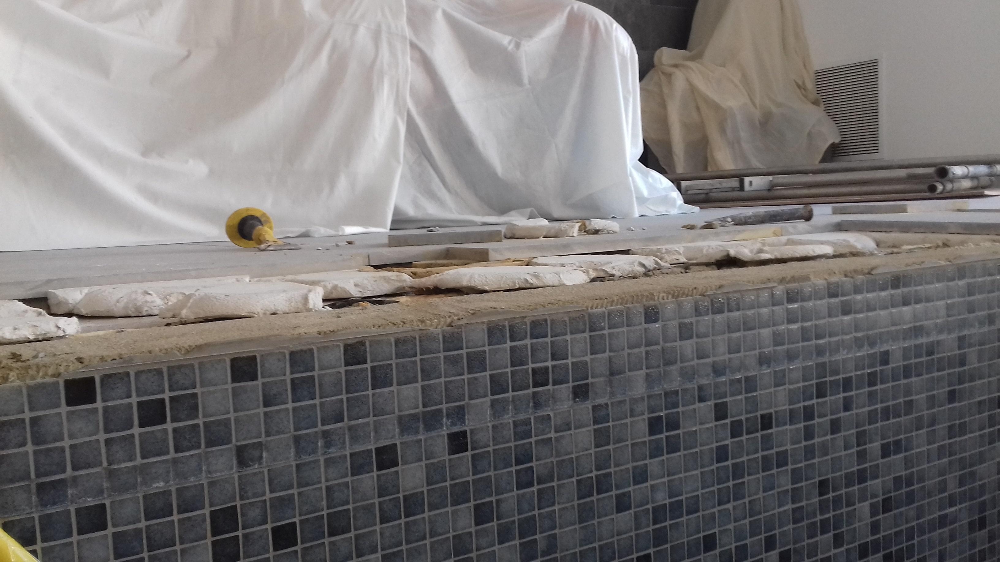 Limestone Swimming Pool Tile Surround Repair Canterbury