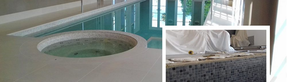Limestone Swimming Pool Tiles Repaired and Polished in Canterbury
