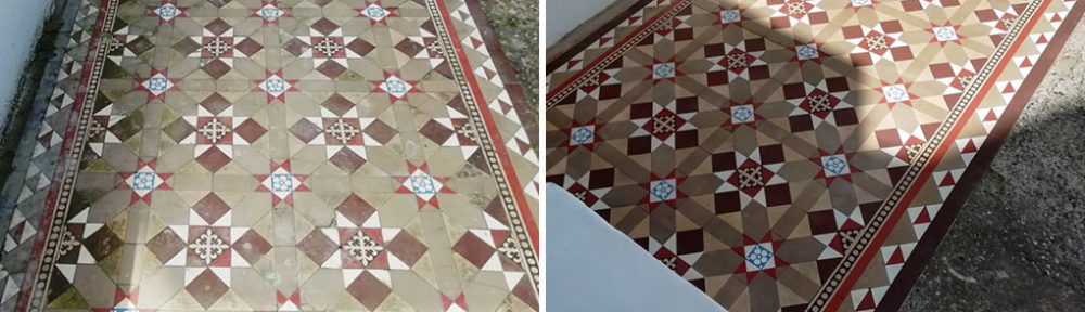 Victorian Tiles Path Restoration in Cliftonville, Margate