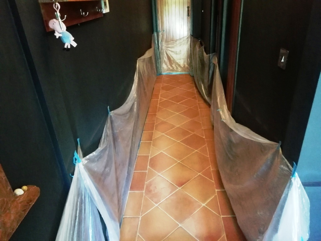 Saltillo Terracotta Hallway Floor After Renovation Canterbury