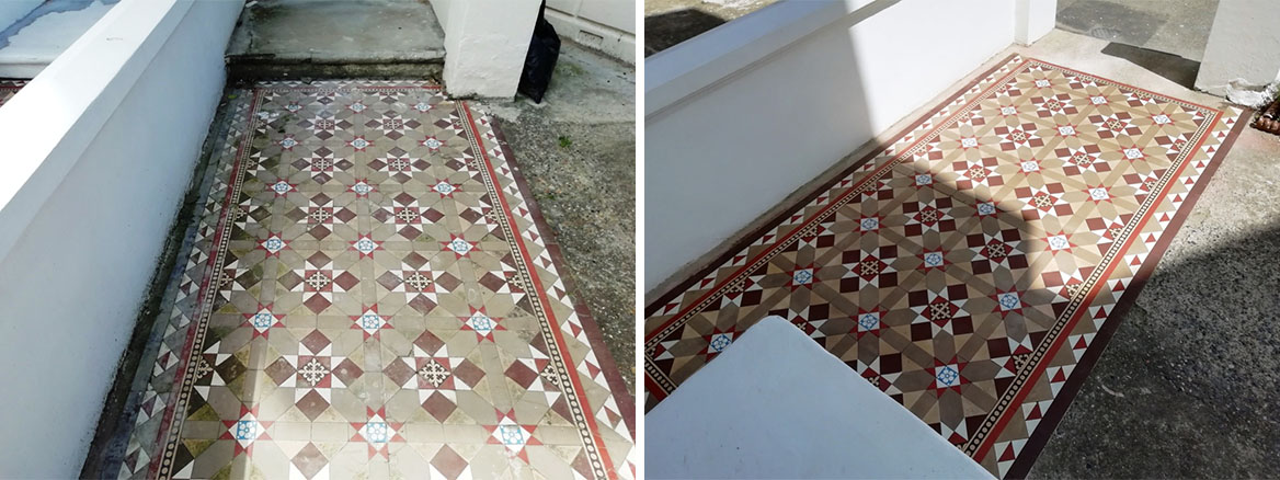 Victorian Path Before and After Renovation Cliftonville Margate